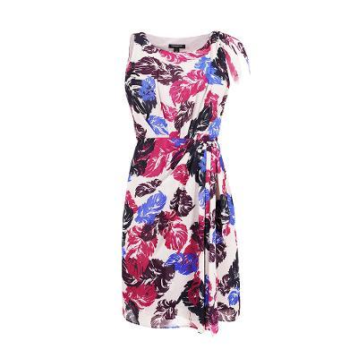 floral pattern sleeveless dress multi